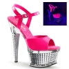 ILLUSION-659UV Neon Hot Pink/Silver Chrome